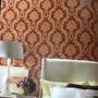1050305 - Colonial (Vermelho/ Dourado/ Detalhes com Leve Relevo e Brilho Glitter)
