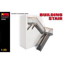 Edificio Modelo - Escaleras 1:35 Kit Miniart Plástico Minia
