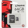 Cartao Memoria Kingston Micro Sdxc 64gb Sd + Frete Grátis