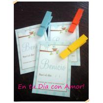 Souvenir Mini Broche + Tarjetita Nacimiento Bautismo