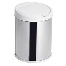 Lixeira Purimax Inox 3 Litros C/ Balde Click - Unidade