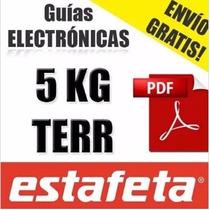 Guia Electronica Estafeta Terrestre Digital Envío Gratis 5kg