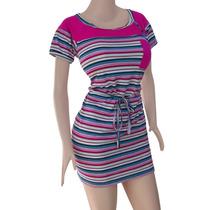 Vestido Algodon Diseño Combinado Original De Moda Ref: 2504