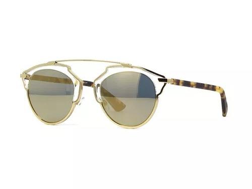Óculos De Sol Christian Dior So Real Feminino Dourado Preto - R  449,90 em  Mercado Livre 6a43ce0523