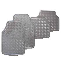 Jogo Tapete Metalico Tipo Aluminio Cromado 4 Peças - Tuning