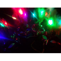 5 Antifaces Luminosos Led Antifaz Carnaval Fiestas Eventos