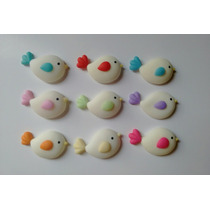 Apliques De Pajaritos En Porcelana Fría X 15 U.