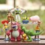 Kit Com 9 Bonecos Toy Story 3 Buzz Lighter Wood Jessie