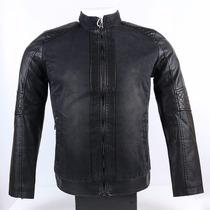 Casaca Importada Tipo Cuero Jean Color Negro Ndph