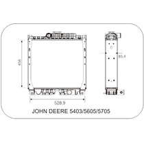 Radiador Tractor John Deere 5403-5605-5705 Visconde