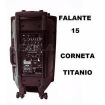 Caixa Amplificada, Bateria Interna 450wrms 2 Mic Sem Fio Vhf