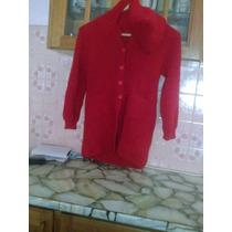 Hermoso Saco Tapadito Rojo T 4 6 U 8 Con Capucha