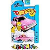The Simpsons Family Car Hot Wheels 2015 Lacrado Rosa Pink