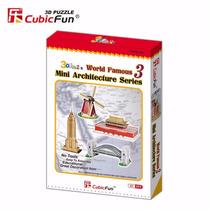 Rompecabezas 3d Mini Architecture Series 3 - Cubicfun