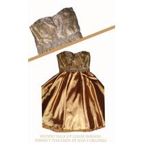 Vestido De Fiesta Cortejo De Gala Dorado