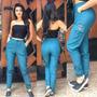 Azul Agua Army Bolso