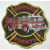 Parche Bordado - Bomberos - 18 X 18
