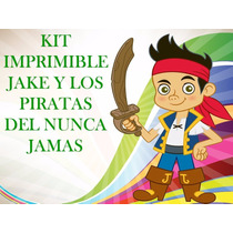 Kit Imprimible Fiesta Jake Y Los Piratas-invitación Cotillon
