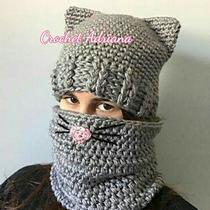 Gorro Y Bufanda Tubo Gato Crochet Tejidos