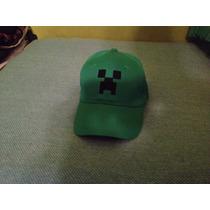 Gorra Creeper Minecraft Bordada Ajustable Única Excelente