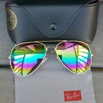 Lentes Ray Ban Aviador , Color Unico Y Limitado Raibow