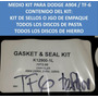 Medio Master Kit Caja Dodge A904/tf6 Torque6 Anillos Teflon