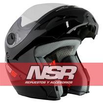 Casco Hawk Rebatible Rs5 Velocidad Negro Blanco Nsr Motos