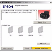 Error De Almoadillas Epson Tx130