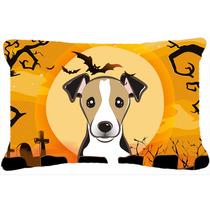 Terrier De La Tela De Halloween Jack Russell Almohada Decora