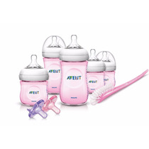 Philips Avent Set Kit De Inicio Biberones Azul/rosa Chupon 5