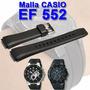 Malla Reloj Casio Ef552 De Caucho Original Colocacion S/c