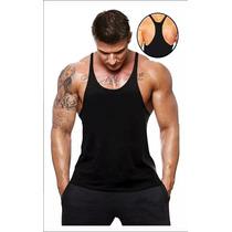 Combo 3 Regata Super Cavada Lisa Moda P Musculação Treino