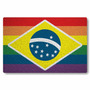 Tapete / Capacho Personalizado - Bandeira Glbt Brasil - Fund