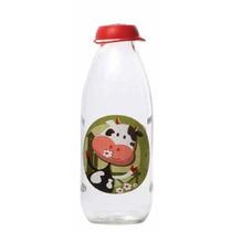 Botella Vidrio Leche Decorada Vaca Milky 1 Litro Prinz