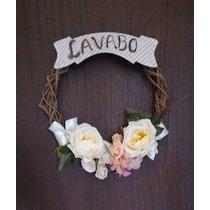 Guirlanda Flores P/ Porta - Natalina Natal Pascoa Decorativa