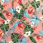 Flores Tropicales Rosa (Polilycra)