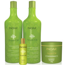 Kit Argan Oil System Hidratante Inoar Profissional 4 Produto