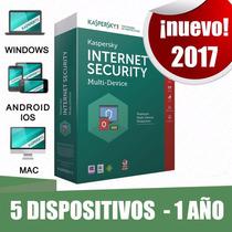 Licencia Kaspersky Internet Security 5 Dispositivos 1 Año