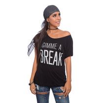 Blusa Larga Negra Gimme A Break Saints Clothes