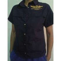 Camisas- Blusas Casuales-uniformes Bordadas Tipo Columbia