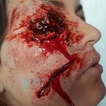 Maquiagem De Terror Slug Para Fantasias Festas Halloween