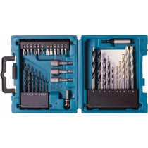 Kit De 34 Brocas Makita De Carburo De Tungsteno Con Estuche