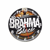 Relogio 29 Cm Cerveja Brahma Chopp Black