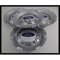 Kit 4 Pçs Calota Tampa Miolo Roda Krmai K15 Ford Aro14 15 17
