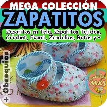 Zapatitos Para Bebé Patrones Revistas Zapatillas Tela Y Más - Bs ...
