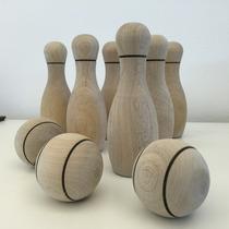 Juego Bowling Infantil Madera Bolsa Tela Juguete Didáctico