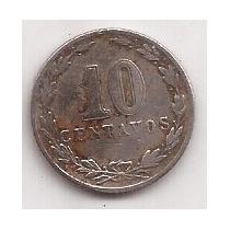 Argentina 10 Centavos Año 1912 Antigua Moneda De Niquel !!