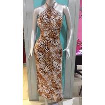Vestidos De Vestir Y Casual Marron Con Animal Print