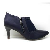 Zapato Con Taco Bota Botineta - Piccadilly - Rimini Confort