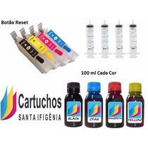Kit Cartuchos Recarregaveis Epson Xp 204/214/401/411 Pigment